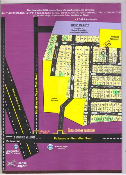 Metro Hi-Tech Residency Plots - Master Plans