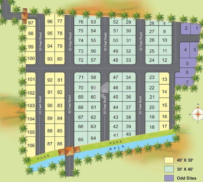 7 Hills Siddalingeshwara Green Garden - Master Plans