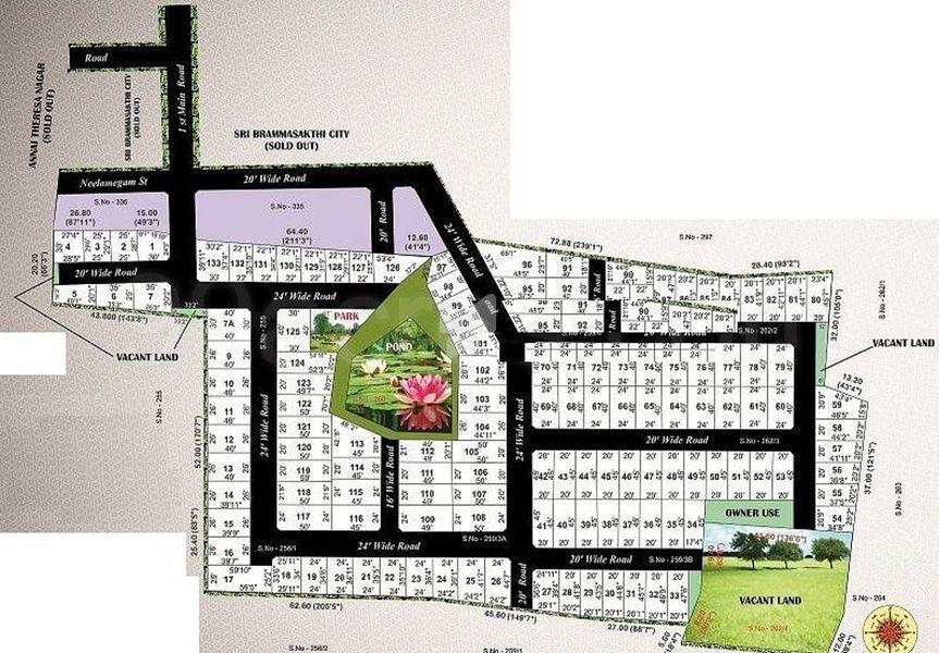 Aishwaryam Dhanalakshmi Nagar - Master Plan
