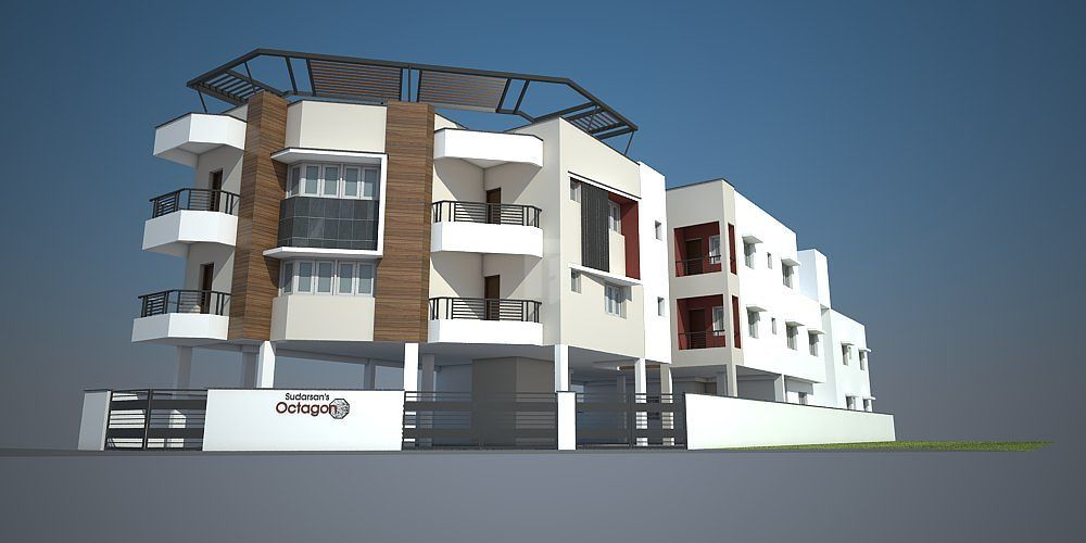 Sudarsan Octagon Flats - Elevation Photo