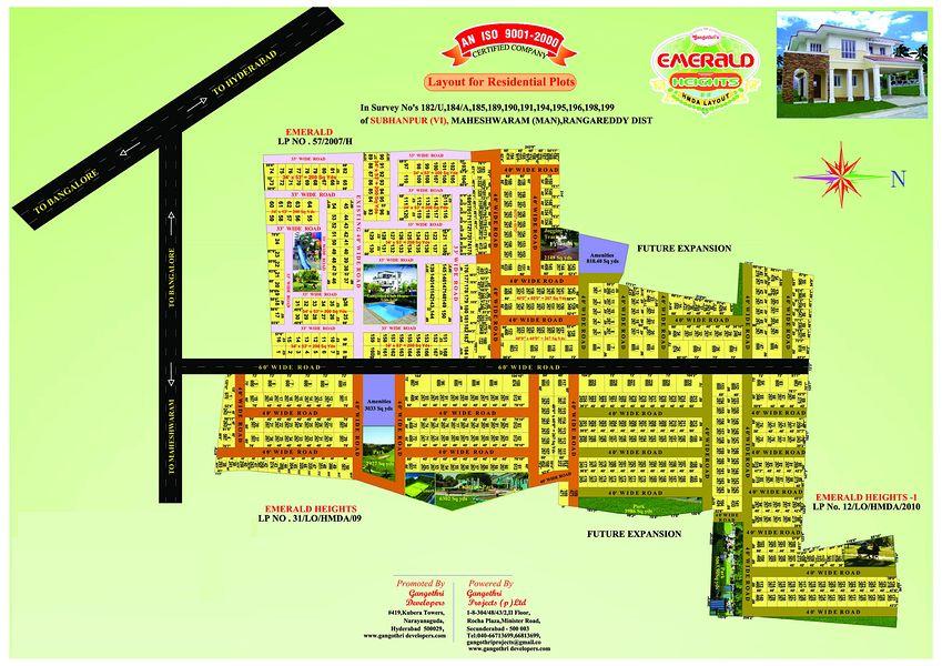 Gangothri's Emerald Heights - Floor plan