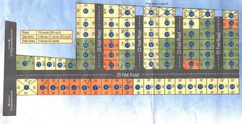 Jemi Senthur Midas Residency Plot - Master Plans