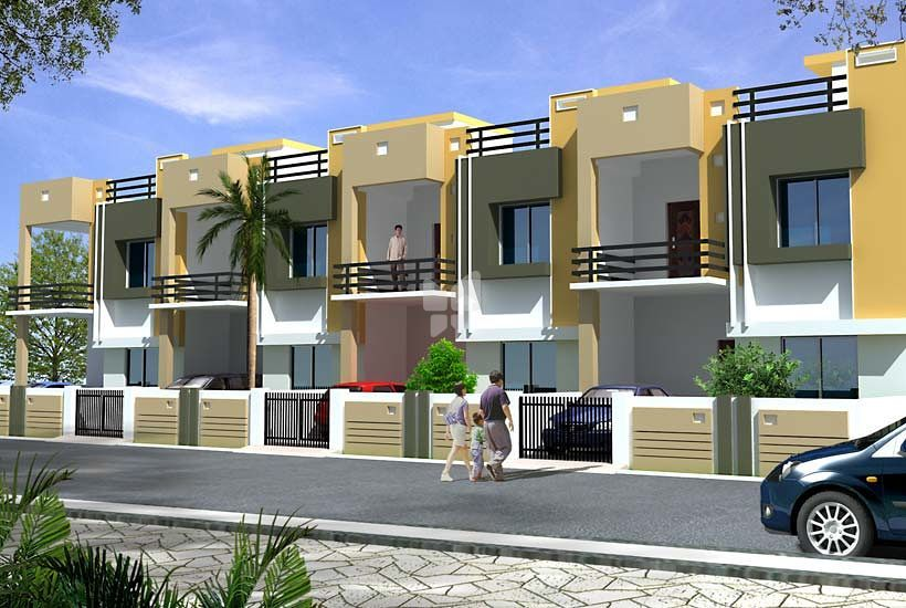 Dreams elina row house in hadapsar pune roofandfloor for Best row house design