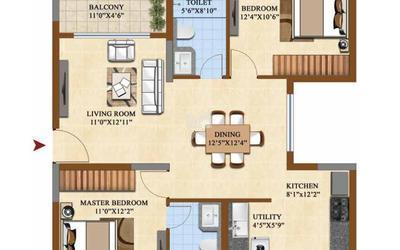 salarpuria-sattva-divinity-in-mysore-road-floor-plan-2d-tig