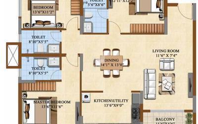 salarpuria-sattva-divinity-in-mysore-road-floor-plan-2d-tii