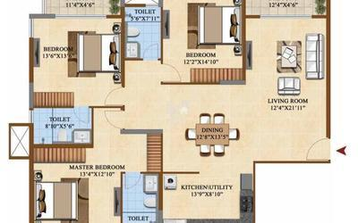 salarpuria-sattva-divinity-in-mysore-road-floor-plan-2d-tim