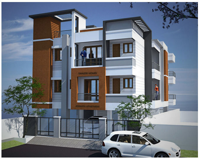 Front Elevation Designs Of Apartments : Apartment plans elevation joy studio design gallery