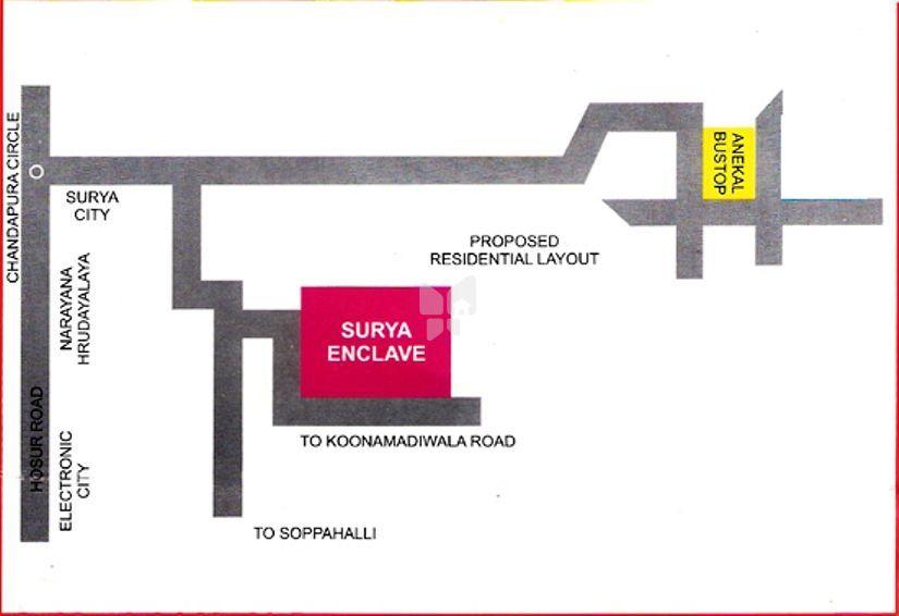 ESCON Surya Enclave - Location Maps