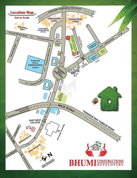 Bhumi Raghavendra Nagar - Location Map