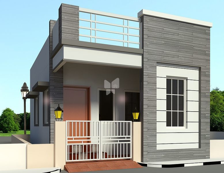 New House Front Elevation Models Part - 29: Elevation - Model 1 | Nellai Krishna Dhanaya Villa In Avadi, Chennai