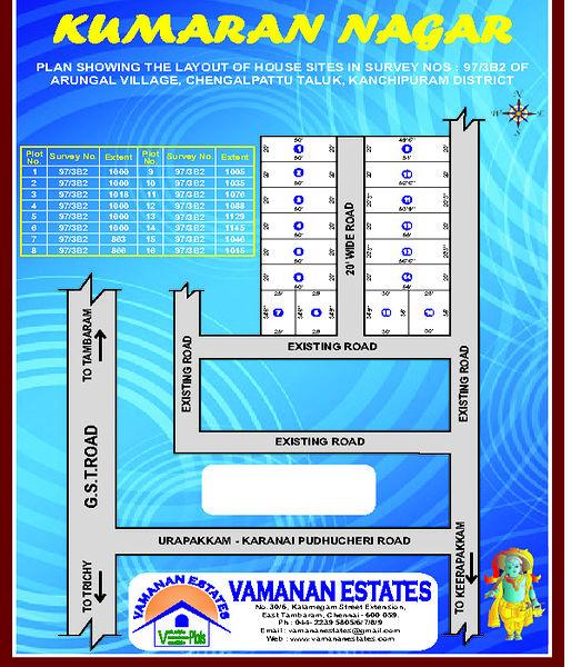 Vamanan Estates Kumaran Nagar - Master Plan