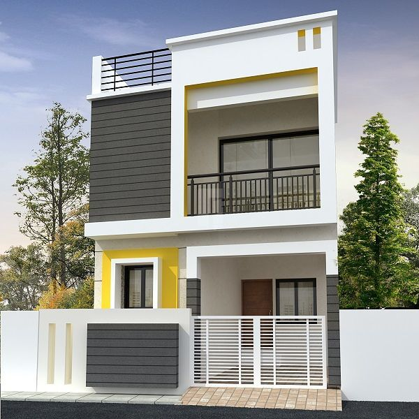 Small House Design Elevation: Vishnu Realty Dharshini Homes In Chromepet, Chennai