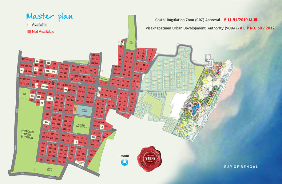 Sunray Beach Front - Master Plans