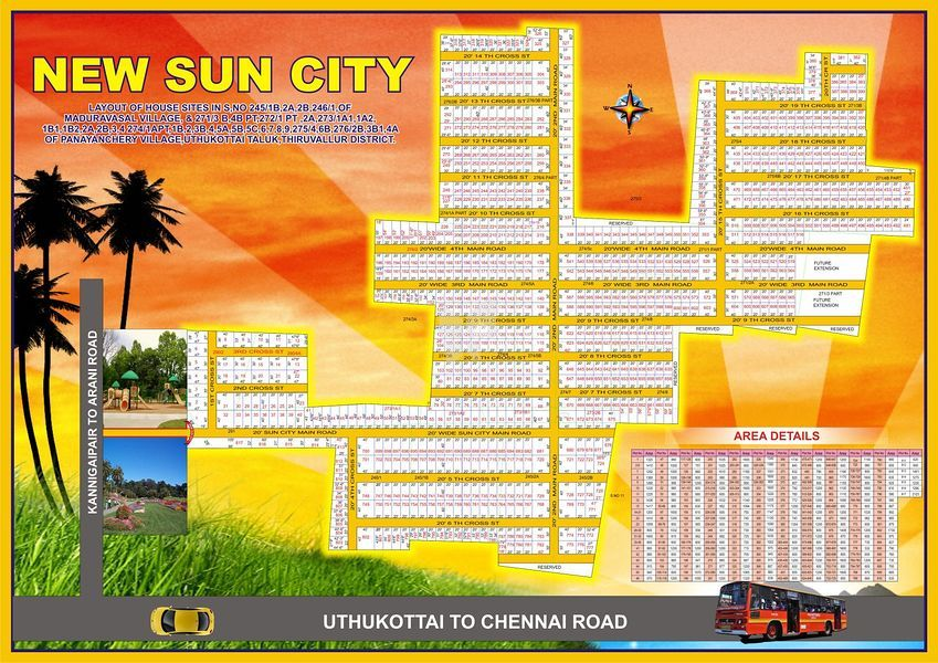AJE The New Sun City - Periyapalayam - Master Plans