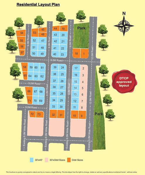 Vijayalakshmi Sairam Orchids - Master Plans
