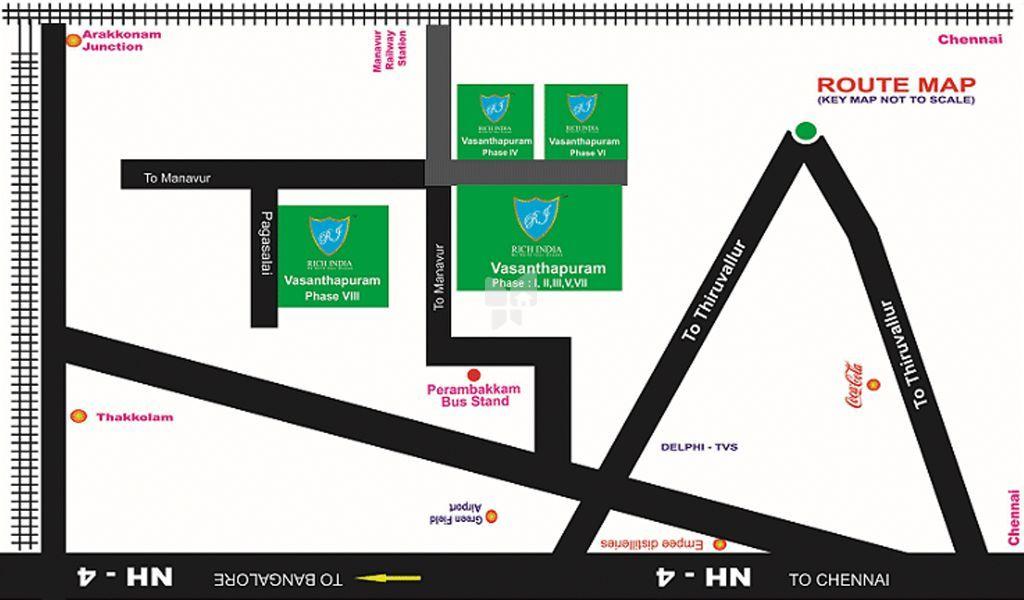 Rich Vasanthapuram Phase VIII - Location Map