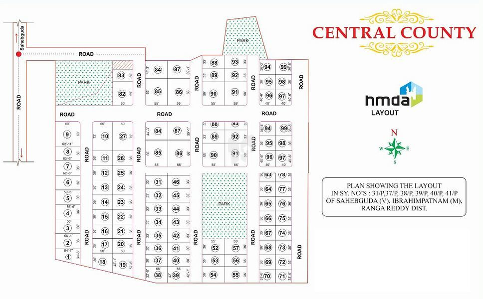 Bhashyam Central County - Master Plans