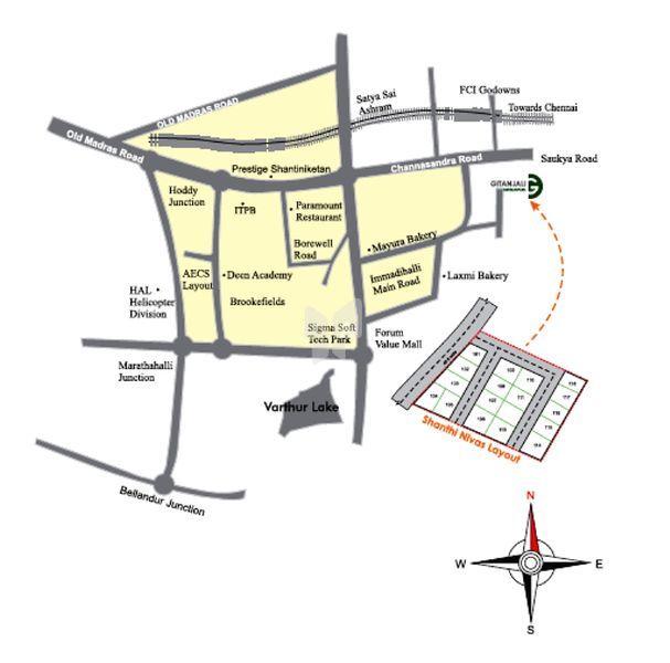 Gitanjali's Shanti Nivas - Location Map