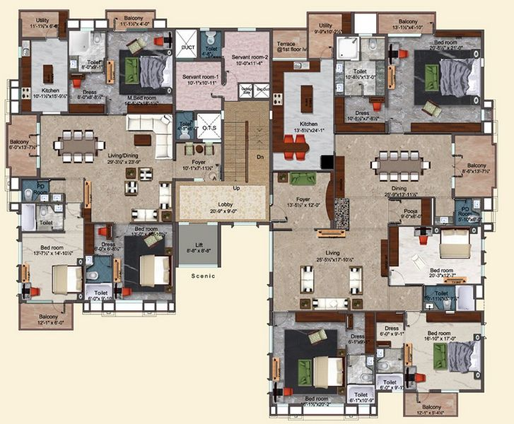 Poes 57 - Floor Plan - 2D