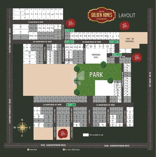Vetri Sri Sai Golden Homes - Master Plan