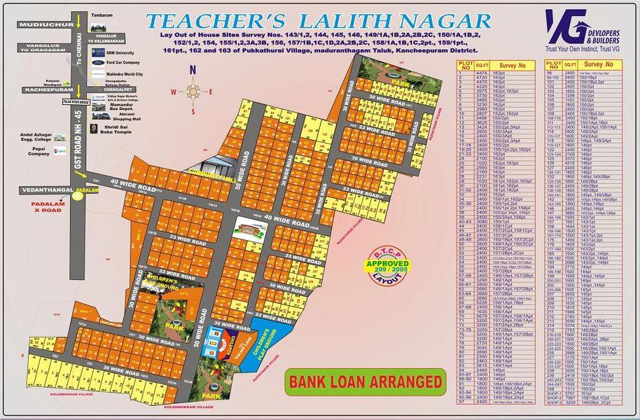 VG Teacher's Lalith Nagar - Master Plans