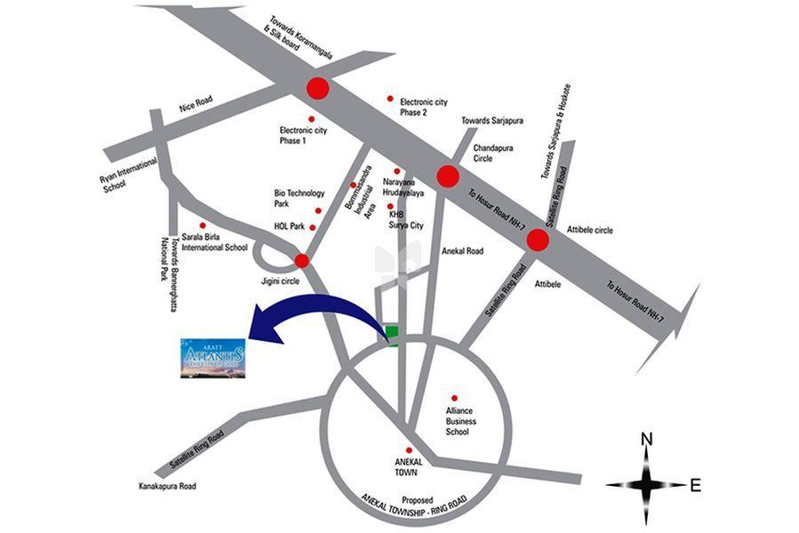Aratt Atlantis - Location Map