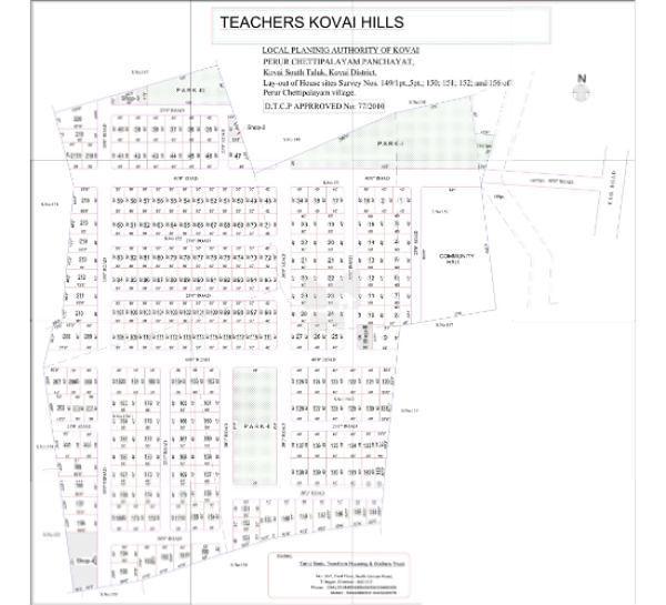 Teachers Kovai Hills House With Plots - Master Plans