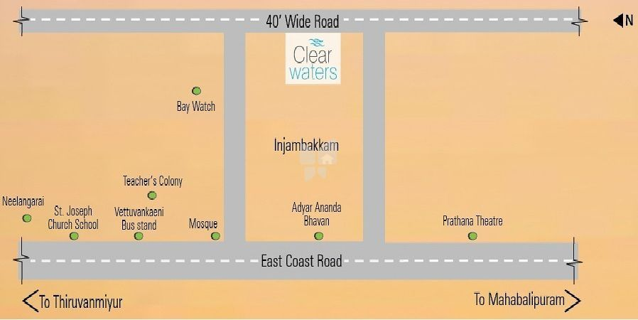 Bhoomi Clear Waters - Location Maps