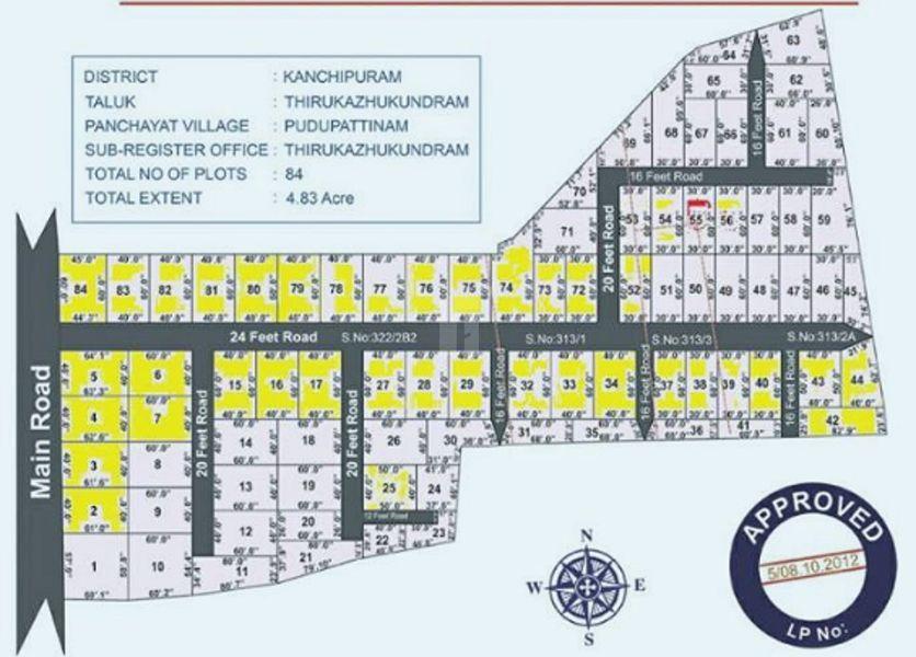Everrest Sri Bhuvaneshwari Nagar - Master Plans