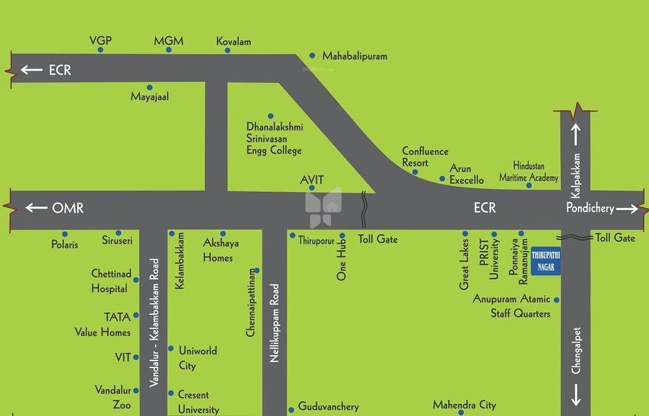 Gita Thirupathi Nagar - Location Maps