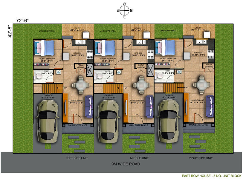 row house design plans philippines home 2017 - Philippines House Design Plans