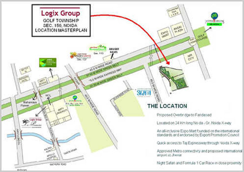 Projects by Logix Group in Noida - Roofandfloor from The