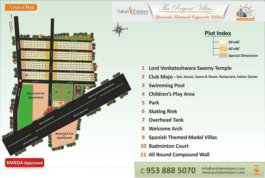 The Regent Villas In Jigani Bangalore Price Floor