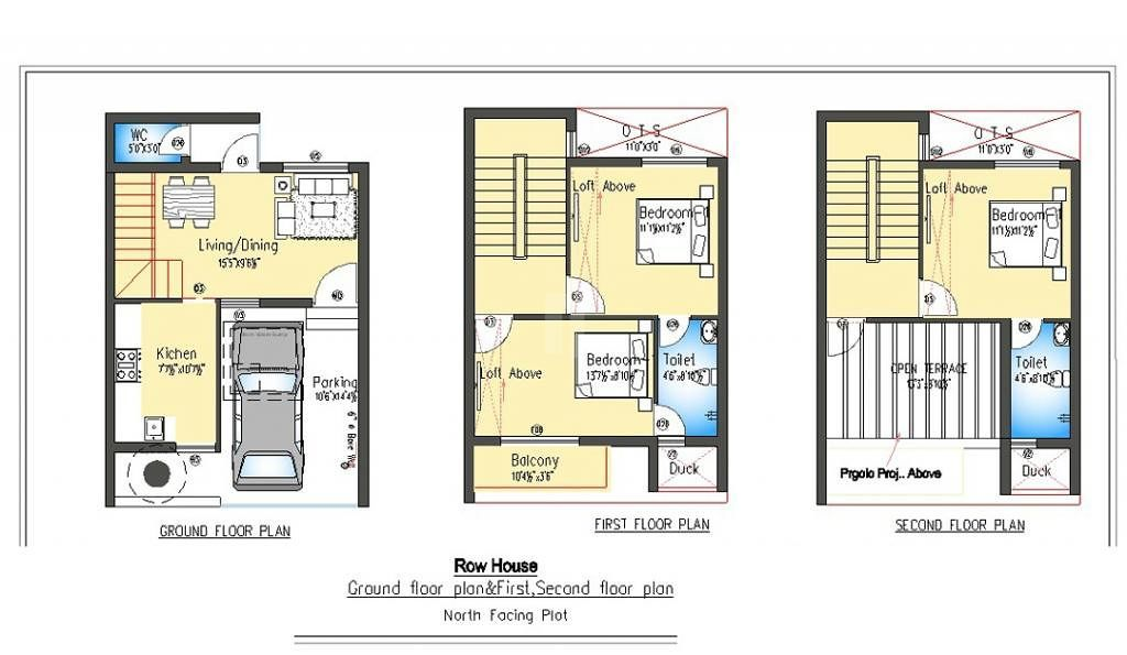 Row Houses Floor Plans India