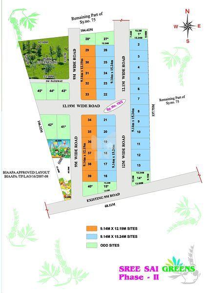 Sree Sai Greens Phsae ll - Master Plan