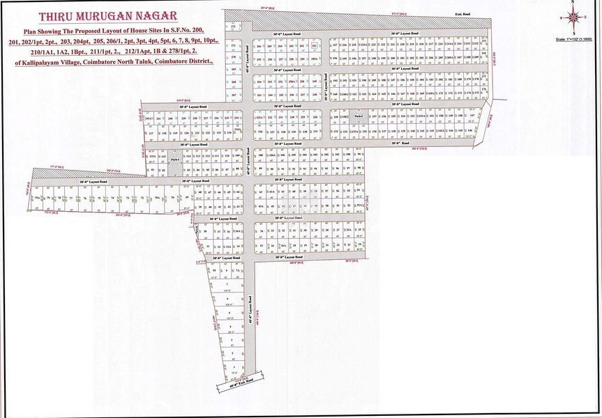 MS Thiru Murugan Nagar - Master Plans
