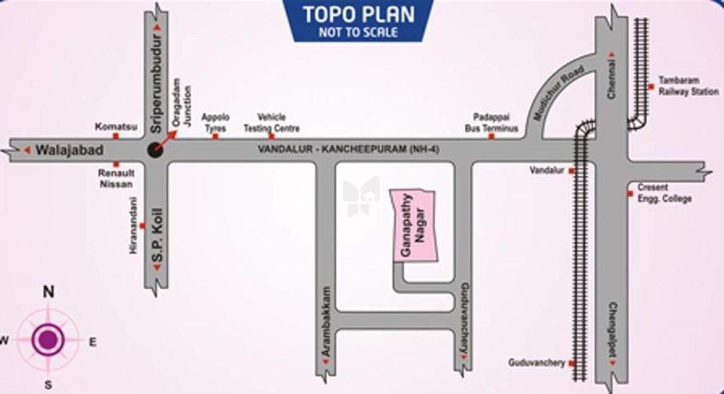 Avani Ganapathy Nagar - Location Maps