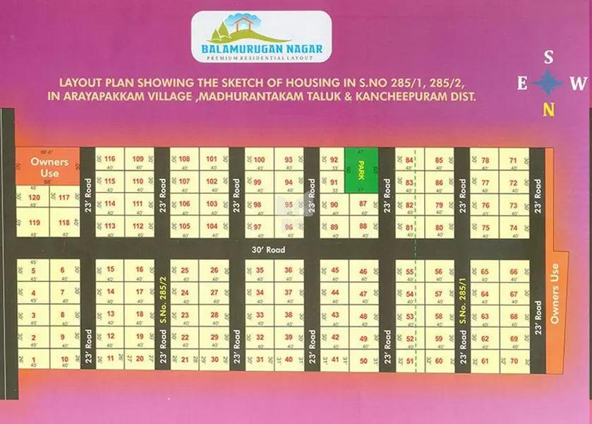 Sri Balamurugan Nagar - Master Plans