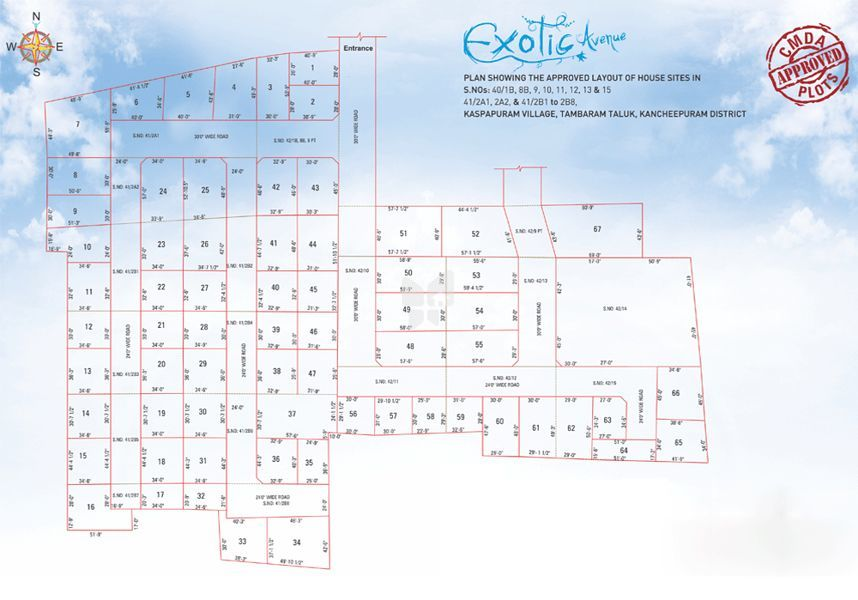 Anand and Venkatesh Exotic Avenue - Master Plan