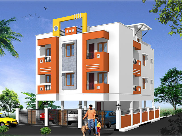 Deepika 39 s temple view royal apartment in thiruverkadu for Building design photos