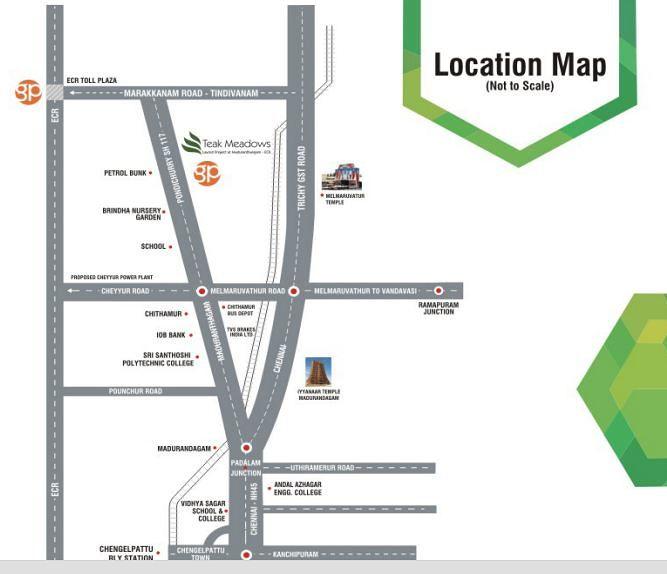 Teak Meadows - Location Map