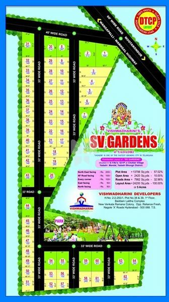 Vishwadharini SV Gardens - Master Plan