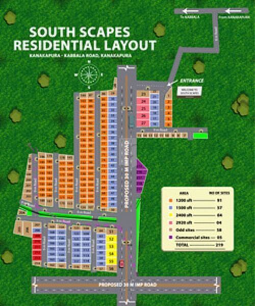 Realwealth South Scapes Residential Layout - Master Plans