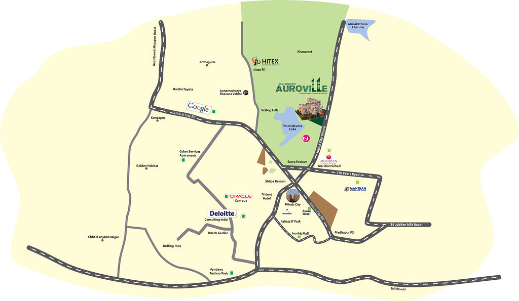 Jain Srikar Auroville In Hitech City Hyderabad Price