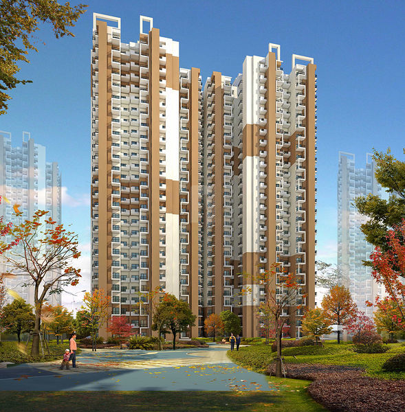 Amrapali Dream Valley High Rise - Elevation Photo