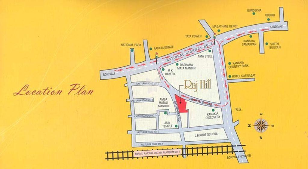 Gurukrupa Raj Hills - Location Maps