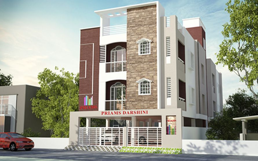 Front Elevation With Stilt Parking : Priams dharshini in west mambalam chennai roofandfloor