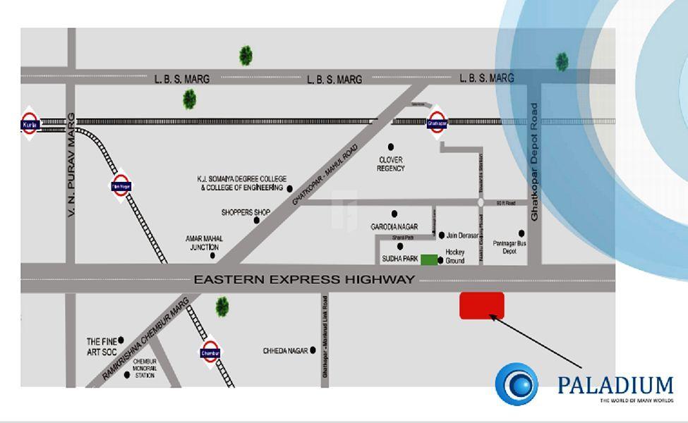 Sanghvi Gruha Paladium - Location Maps