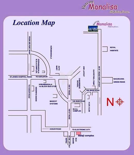Vascon Monalisa - Location Map