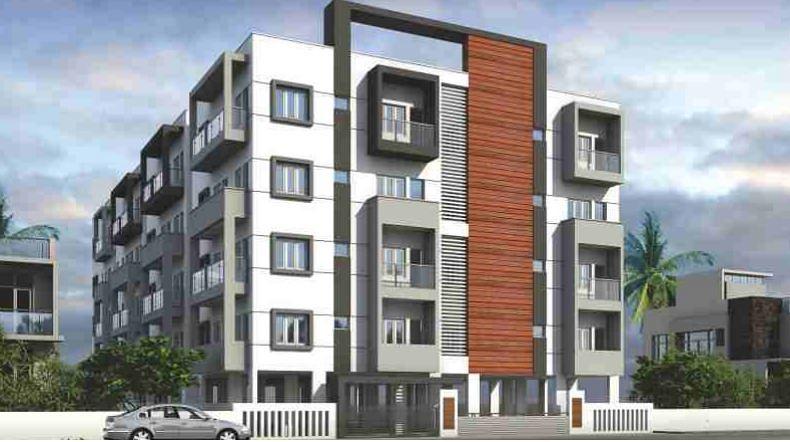 3 Floor Apartment Elevation : Teja residency in k r puram bangalore roofandfloor